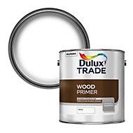 Dulux Trade White Wood Primer & undercoat, 2.5