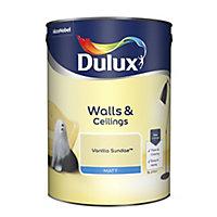Dulux Vanilla sundae Matt Emulsion paint, 5L