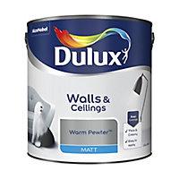 Dulux Warm pewter Matt Emulsion paint, 2.5L