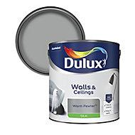 Dulux Warm pewter Silk Emulsion paint, 2.5L
