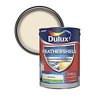 Dulux Weathershield All weather protection Gardenia Smooth Matt Masonry paint, 5L