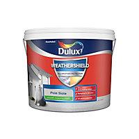 Dulux Weathershield All weather protection Pale slate Smooth Matt Masonry paint, 10L