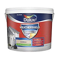 Dulux Weathershield All weather protection Sandstone Smooth Matt Masonry paint, 10L