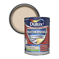 Dulux Weathershield All weather protection Sandstone Smooth Matt Masonry paint, 5L