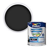 Dulux Weathershield Black Satin Metal & wood paint, 750ml