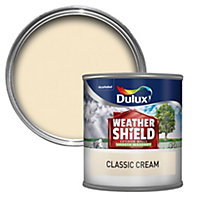 Dulux Weathershield Classic cream Smooth Masonry paint 0.25L Tester pot