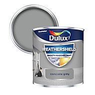 Dulux Weathershield Concrete grey Smooth Matt Masonry paint, 0.25L Tester pot