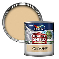Dulux Weathershield County cream Masonry paint, 0.25L Tester pot
