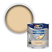 Dulux Weathershield County cream Smooth Matt Masonry paint, 0.25L Tester pot