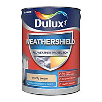 Dulux Weathershield County cream Textured Matt Masonry paint, 5L