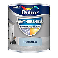 Dulux Weathershield Frosted lake Smooth Matt Masonry paint, 0.25L Tester pot
