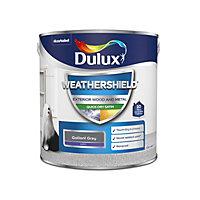 Dulux Weathershield Gallant grey Satin Metal & wood paint, 2.5