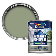 Dulux Weathershield Green glade Satin Metal & wood paint, 0.75