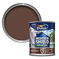 Dulux Weathershield Hazelnut truffle Satin Metal & wood paint, 750ml
