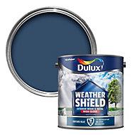 Dulux Weathershield Oxford blue Gloss Metal & wood paint, 2.5L