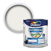 Dulux Weathershield Pure brilliant white Satin Metal & wood paint, 2.5L