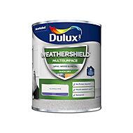 Dulux Weathershield Pure brilliant white Satin Multi-surface paint, 750ml