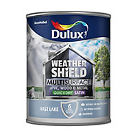 Dulux Weathershield Vast lake Satin Multi-surface paint, 0.75L