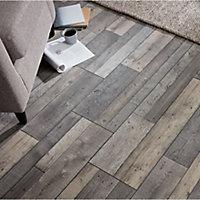 Dunwich Grey Oak effect High-density fibreboard (HDF) Laminate Flooring Sample