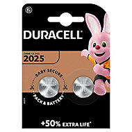 Duracell Non-rechargeable CR2025 Battery, Pack of 2