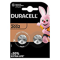 Duracell Non-rechargeable CR2032 Battery, Pack of 2