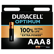 Duracell Optimum Non-rechargeable AAA Battery, Pack of 8