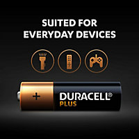 Duracell Plus Non-rechargeable AA Battery, Pack of 8
