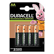 Duracell Rechargeable AA Battery, Pack of 4