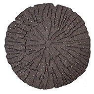 Earth brown Single size Cracked log Stepping stone 0.2m²