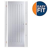 Easy fit Cottage Pre-painted White Adjustable Internal Door & frame set, (H)1988mm-1996mm (W)759mm-771mm