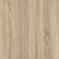 Ebru Matt white oak effect Painted 2 Drawer Desk (H)768mm (W)1451mm (D)810mm