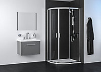 Edge 6 Offset quadrant Shower Enclosure & tray with Double sliding doors (W)1000mm (D)800mm