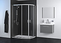 Edge 6 Offset quadrant Shower Enclosure & tray with Double sliding doors (W)1200mm (D)800mm