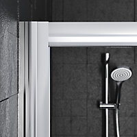 Edge 8 Offset quadrant Shower Enclosure & tray with Double sliding doors (W)1200mm (D)800mm