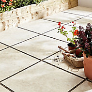 Egypte stone Cream Matt Stone effect Porcelain Outdoor Floor tile, Pack of 2, (L)600mm (W)600mm