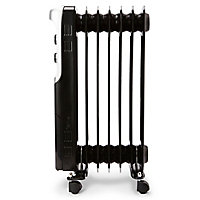 Electric 1500W Black Oil-filled radiator
