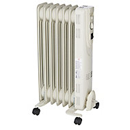 Electric 1500W Off-White Oil-filled radiator
