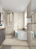 Elegance Beige Marble effect Mosaic Ceramic Mosaic tile, (L)300mm (W)300mm