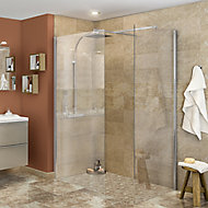 Elegance marble Brown Gloss Marble effect Ceramic Wall Tile, Pack of 9, (L)600mm (W)200mm