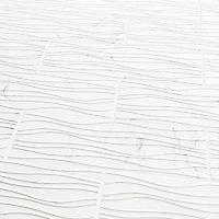 Elegance White Gloss 3D decor Marble effect Ceramic Wall tile, Pack of 7, (L)600mm (W)200mm