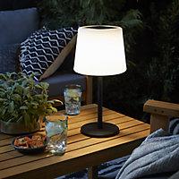 Elgini Black & white Integrated LED Outdoor