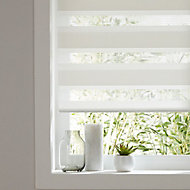Elin Corded White Striped Day & night Roller Blind (W)180cm (L)180cm