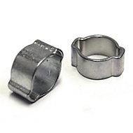Eliza Tinsley Zinc-plated Steel Crimped 5mm Hose clip, Pack of 8