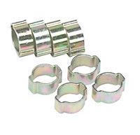 Eliza Tinsley Zinc-plated Steel Crimped 7mm Hose clip, Pack of 8