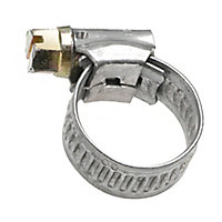 Eliza Tinsley Zinc-plated Steel Worm drive 11mm- 16mm Hose clip, Pack of 4