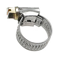 Eliza Tinsley Zinc-plated Steel Worm drive Hose clip (Dia)11mm-16mm, Pack of 4