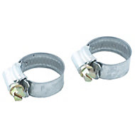 Eliza Tinsley Zinc-plated Steel Worm drive Hose clip (Dia)18mm-25mm, Pack of 2