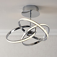 Endor Chrome effect 3 Lamp Ceiling light