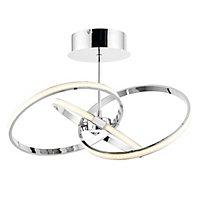 Endor Chrome effect 3 Lamp Ceiling light