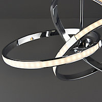 Endor Modern Chrome effect Ceiling light